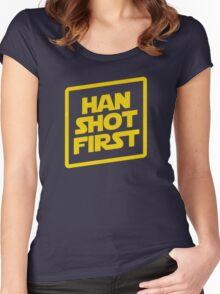 Han Shot First Women's Fitted Scoop T-Shirt