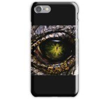 Saltwater Crocodile Eye Close Up iPhone Case/Skin