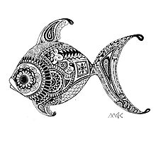 Zentangle Fish  by wildwildwest