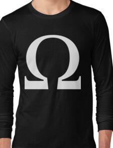 Omega Symbol [White Ink] Long Sleeve T-Shirt