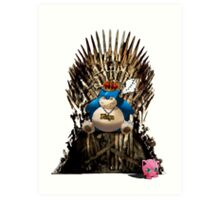 Snorlax and Jigglypuff take the Iron Throne Art Print
