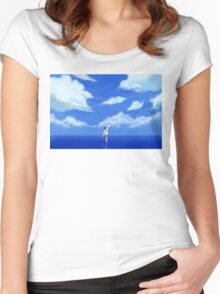 LOST IN A DREAM Women's Fitted Scoop T-Shirt