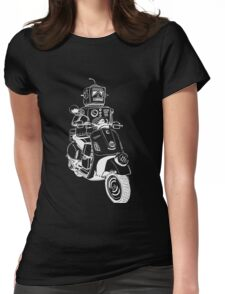 Robots love Vespa! Womens Fitted T-Shirt