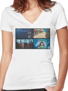 IT'S JUST A BAD DREAM Women's Fitted V-Neck T-Shirt