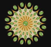 Mandala Gold and Emeralds T-Shirt