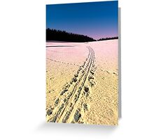 Cross country skiing | winter wonderland | landscape photography Greeting Card