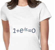 THE BEAUTIFUL EQUATION: EULER'S IDENTITY Womens Fitted T-Shirt