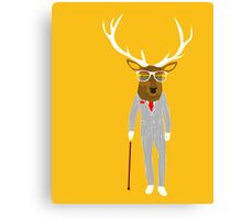 Gentleman stag Canvas Print