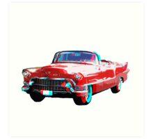 3D Cadillac Art Print
