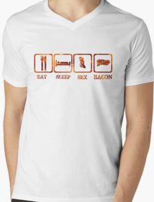 Eat Sleep Sex Bacon T-Shirst & Hoodies Mens V-Neck T-Shirt