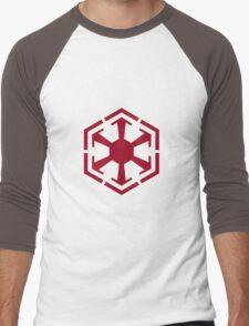Imperial Crest Red Men's Baseball ¾ T-Shirt