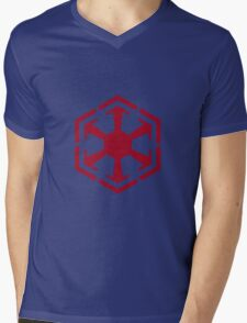 Imperial Crest Red Mens V-Neck T-Shirt