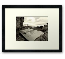 Reading Break Framed Print