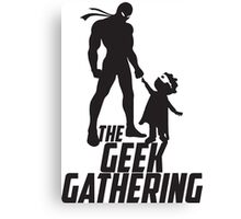 The Geek Gathering Duvet Cover Canvas Print