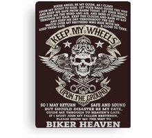biker - Motorcycle  Canvas Print