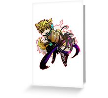 Genos and Sonic One punch Man Greeting Card
