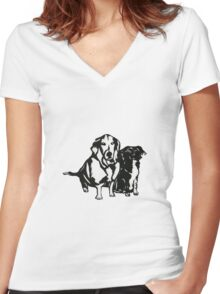 Rudy and Roxy Women's Fitted V-Neck T-Shirt