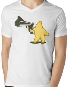 Shooting Star Mens V-Neck T-Shirt