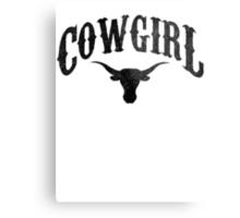 Cowgirl - Longhorn Metal Print