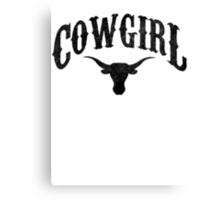 Cowgirl - Longhorn Canvas Print