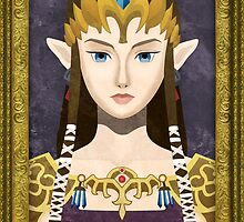 Framed Faux-Paint Zelda (The Legend of Zelda) by enthousiasme