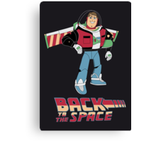 Buzz to the future poster Canvas Print