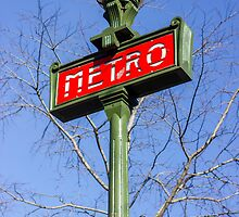Paris Metro Sign by PatiDesigns
