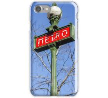 Paris Metro Sign iPhone Case/Skin