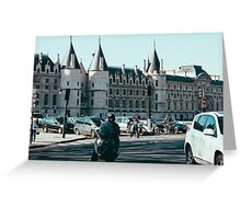Blue Paris Greeting Card