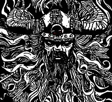The Viking Digitally Enhanced Drawing by Jason westwood