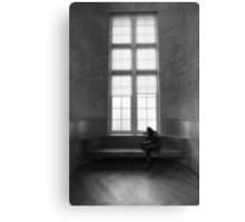 vintage window lonely girl Canvas Print