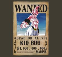 Wanted Poster Kid Buu by BadrHoussni