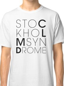 CLMD - The Stockholm Syndrome Black Typography Classic T-Shirt