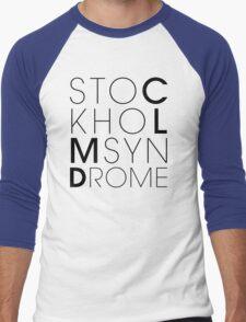 CLMD - The Stockholm Syndrome Black Typography Men's Baseball ¾ T-Shirt