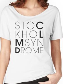 CLMD - The Stockholm Syndrome Black Typography Women's Relaxed Fit T-Shirt