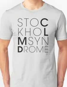 CLMD - The Stockholm Syndrome Black Typography Unisex T-Shirt