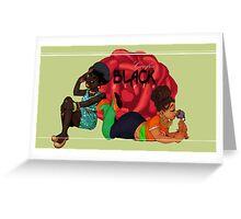 Carefree Black Girls Greeting Card