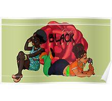 Carefree Black Girls Poster