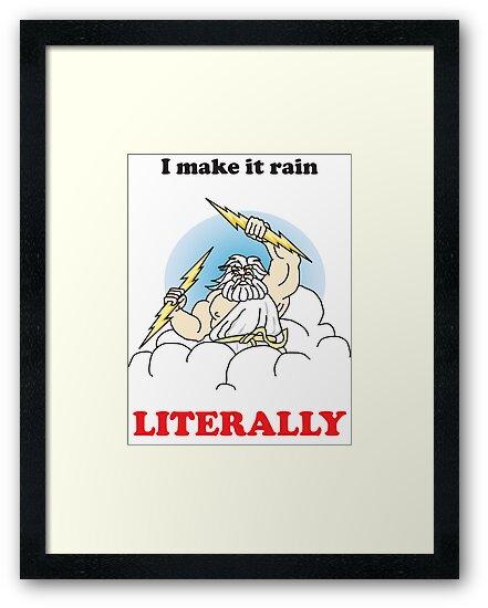 Making it rain funny t shirt  by xGeberx