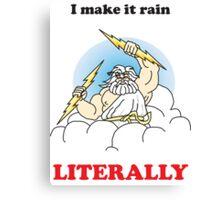 Making it rain funny t shirt  Canvas Print