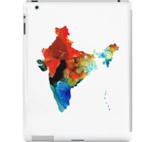 Map of India by Sharon Cummings iPad Case/Skin