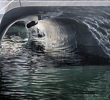 Bergen Harbour  -  Under the Cat. (2) by Larry Lingard-Davis