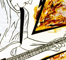 Calvin's Guitar is Electric! Sticker