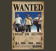 Wanted Poster GTA Trio by BadrHoussni