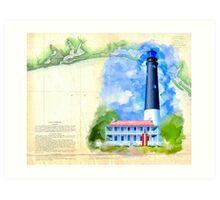 Historic Panhandle of Florida - Pensacola Lighthouse Art Print