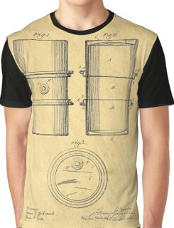 Original Patent for the first metal oil drum Graphic T-Shirt