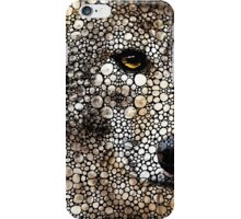 Stone Rock'd Wolf Art by Sharon Cummings iPhone Case/Skin