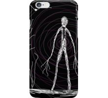 dark creepy slender man in forest on Halloween by Tia Knight iPhone Case/Skin
