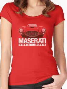 Maserati Centenary A6GCS (1953) Women's Fitted Scoop T-Shirt