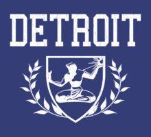DETROIT - Spirit of Detroit Crest (vintage distressed) by robotface